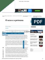 O sexo e a próstata - São Paulo - Estadão