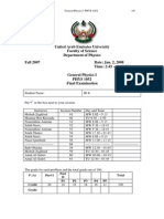 Final Exam Phys105 FA07