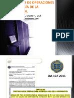 Preparación Para Una Efectiva Continuidad de Operaciones de Tecnología de La Información en Las Entidades Financieras