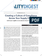 Quality Digest Creating Culture of Compliance Across Your Supply Chain