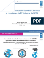 Conceptos básicos de Cambio Climático y resultados del V Informe del IPPCC. Por Jorge Alvarez