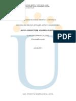 Modulo 401123 - Proyecto de Desarrollo Social-2012