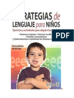 Balán, Emma - (RESUMEN) Estrategias de Lenguaje Para Niños