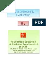 Training-Measurement & Evaluation