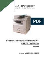 Parts Manual Aficio 2016
