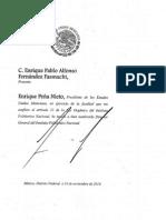 Nombramiento de Enrique Pablo Alonso Fernández Fassnacht