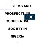 Problems and Prospects of Cooperative Society in Nigeria