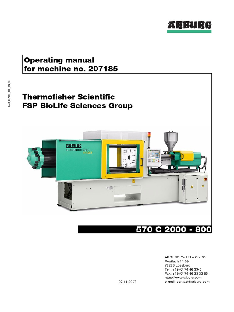 manual arburg input output personal protective equipment rh scribd com Milicron Injection Molding Injection Molding Machine