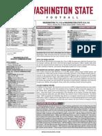 WSU 14FB Game Notes - Washington