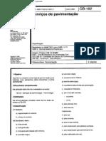 NBR 11171 - 1990 - Serviços de Pavimentação