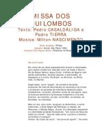 Missa Dos Quilombos - Pedro Casaldáliga