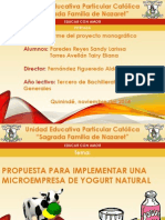 propuesta de implementar una empresa de yogurt natural