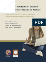 Relaciones interactivas, Internet y jóvenes de secundaria en México