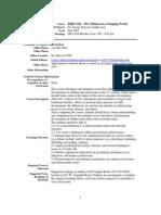 UT Dallas Syllabus for ishd3343.501.07f taught by Jacoba Vanbeveren (jtv013100)