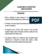 MAQUETISMO, MAQUETAS ARQUITECTONICAS
