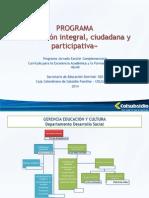 Propuesta 40x40 SED 2014 V1 Docentes EdyCiudadania