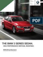 2013 3 Series Sedans Brochure