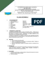 Syllabus Enfermeria II