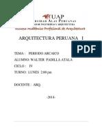 PERIODO ARCAICO MONOGRAFIA