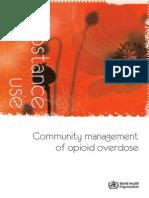 Community Management of Opioid Overdose