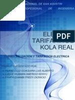 Trabajo de Tarifacion Kola Real