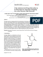 Determination of the Antiretroviral Drug Zidovudine in Diluted Alkaline Electrolyte by Adsorptive Stripping Voltammetry at the Mercury Film Electrode