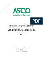 ASCO Admission Requirements 2013