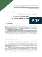 El proceso constitucional de Hábeas Corpus en el Perú