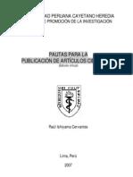 Pautas p Publicacion de Articulos Cientificos-ed 2007 on Line Ishiyama