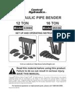 Hydraulic Pipe Bender 12 Ton 16 Ton