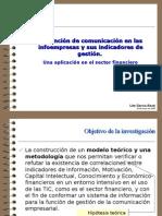 Presentación tesis doctoral Indicadores de gestión en la función de comunicación