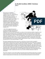 Fitch Rates Colorado Health Facilities 2006C Christian Living VRDBs 'AA+/F1+'