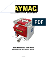 Jaymac Bar Bending O&M Manual Ver3.1