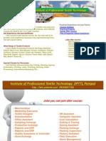 Institute of Professional Textile Technology IPTT, Panipat (Textile Course)