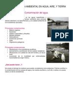 Contaminación Ambiental en Agua