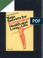 Yoga Secrets for Extraordinary Health and Long Life