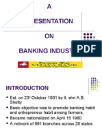 A Presentation on Banking Industry