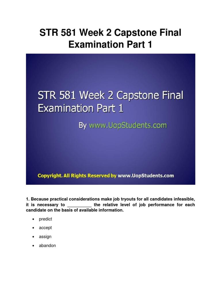 Str 581 research proposal
