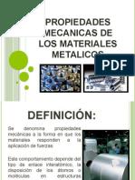 Propiedades Mecanicas de Los Materiales Metalicos Presentacion