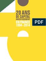 Etude Bpifrance 20 ans Capital investissement