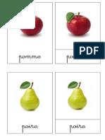 Nomenclature Fruits