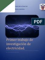 Primer Trabajo de Investigación de Electricidad