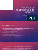 Saussure's Contributions to Linguistic