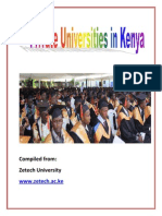 Private Universities in Kenya