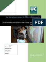 La Incorporación de La PDI en Educación Infantil