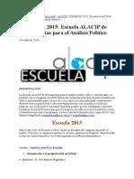 9f ALACIP Herramientas Para El Analisis Politico 2015 Curso