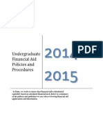 Undergraduate Financial Aid Policies and Procedures 14-15