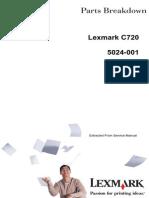 Servicemanual Lexmark-c720 - 5024