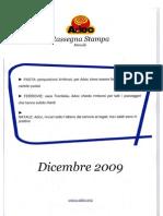 ADOC - Rassegna stampa Dicembre 2009