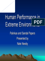 Human Performance in Extereme Environments